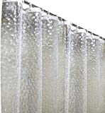 discoball Anti-Schimmel Anti-Bakteriell Duschvorhang im Badezimmer mit 12 Duschvorhangringen Polyester Wasserdicht Waschbar Umweltfre&lich ca. 180x180 cm (3D Wasserwürfel)