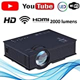 Latest Nishica 2019 Edition unic UC46 Mini Full hd LED WiFi Projector 2000