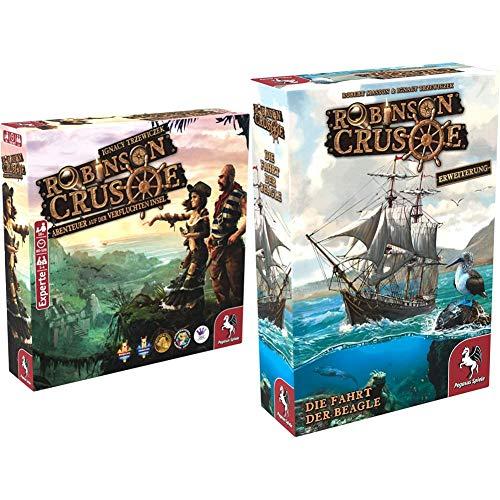 Pegasus Spiele 51945G - Robinson Crusoe + Die Fahrt der Beagle + Mystery Tales
