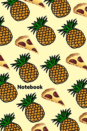 Notebook: Hawaiian Ham and Pineapple Pizza Homework Book Notepad Notebook Composition and Journal Gratitude Diary