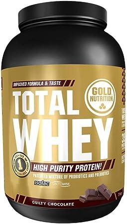 Goldnutrition Total Whey Proteina 2kg, Chocolate, Aumenta y Conserva Músculos