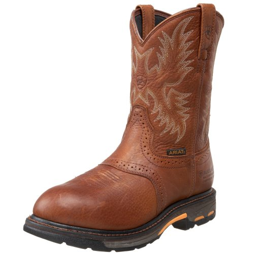 Ariat Men's Workhog Pull-on H2O Composite Toe Work Boot, Dark Copper, 10.5 D US