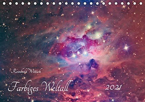 Farbiges Weltall (Tischkalender 2021 DIN A5 quer)
