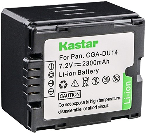 Kastar CGA-DU14 Battery Replacement for Panasonic CGA-DU06 CGA-DU07 CGA-DU12 CGA-DU14 CGA-DU21 and Panasonic NV-GS NV-MX PV-GS VDR-D VDR-M Series Camcorder Cga Du14 Lithium Ion Battery