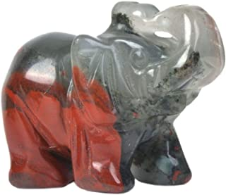 2PC Green Aventurine Jade Stone Craving Lucky elephant Feng Shui statue