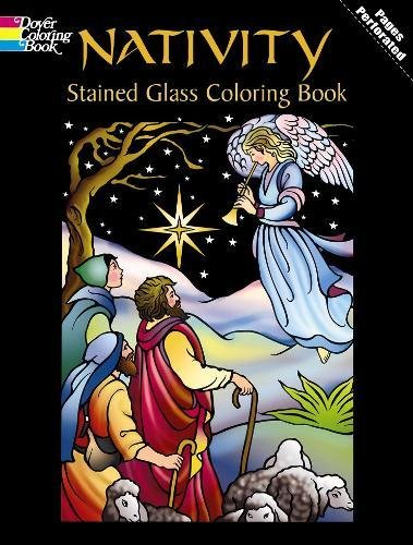 Nativity Stained Glass Coloring Book (Holiday Stained Glass Coloring Book)