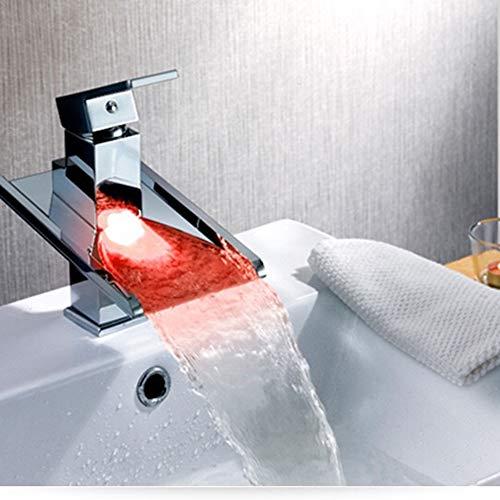 LG Snow Conservación De Agua Generación De Energía Y Grifo De Cobre Duradero Grifo Luz De Control De Temperatura De Luz LED Mezcla De Color