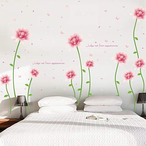 Adhesivos decorativos para bricolaje, diseño de flores, extraíbles, salón, dormitorio, fondo, decoración, cocina, cuarto de baño, pegatinas de pared, pegatinas de pared