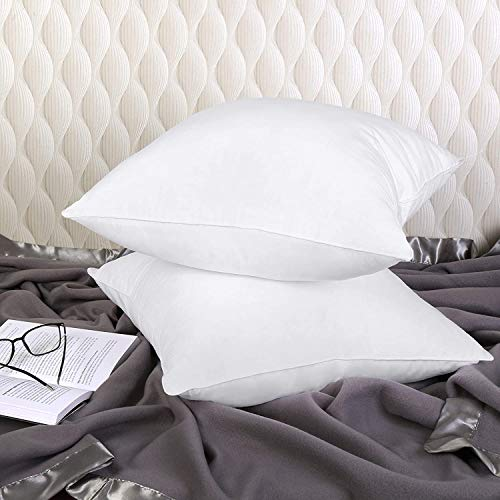 Cushion Pads Inner | Cushion Inserts | 18' Inches Square Cushions | Hollow Fiber Filling Poly Cotton Cover (2)