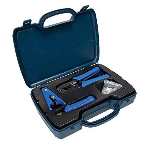 DataShark PA70007 Complete Network Tool Kit by Tempo Communications  Install and Maintain Computer Networks  Includes Crimper Cable Stripper Punchdown Tool RJ45 Connectors