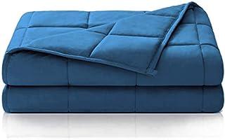 Dailydream Therapie Gewichtsdecke aus Baumwolle, 9,5Kg für Erwachsene, 155 x 200 cm,blau
