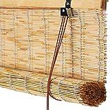 Bambusrollos FüR Die Tür, NatüRliche Lamellenstoren, Sonnenschutz, Retro, Wasserdicht, Atmungsaktiv, Frische Rollläden FüR Drinnen/Draußen, Anpassbar
