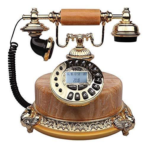 Festnetz antikes Telefon Taster Zifferblatt Freisprecheinrichtung Classic Retro Vintage Schnurgebundenes Telefon Festnetz Resin Speed Dial Wahlwiederholungsfunktion Home Decoration Office Crafts Fes