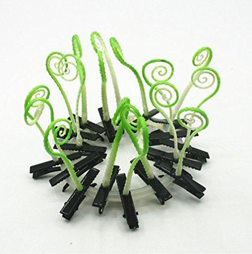 cuhair (TM) bébé fille cadeau Love Manga 10 Motif Hippocampe herbe de choux de conception Barrettes Clip Broches cheveux accessoires