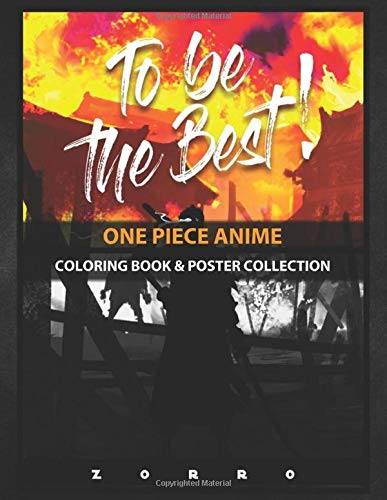 Coloring Book & Poster Collection: One Piece Anime This Is An Illustration Of The Swordsman Zorro Of The A Anime & Manga