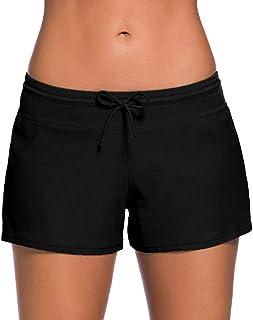 Women Swimsuit Shorts Tankini Swim Briefs ❀ Ladies Plus Size Bottom Boardshort Swim Short Solid Swimming Pants
