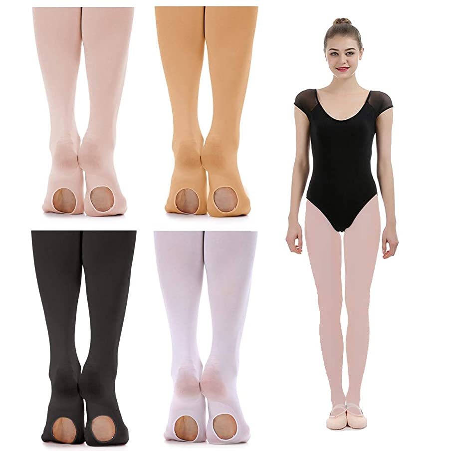 iMucci Ballet Dance Tights - Velet Convertible Ballerina Dancing Stockings