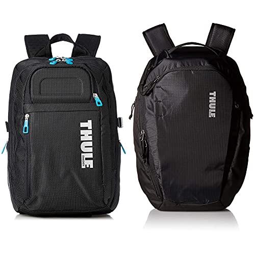 Thule Crossover - Mochila Para Macbook Pro 15%22, Color Negro Con Puntos Blancos + Enroute - Mochila De 14L, Color Negro