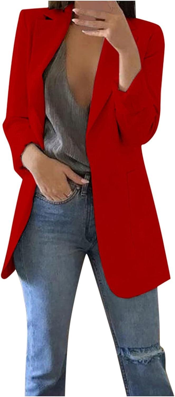 Women's Autumn Winter Warm Long Sleeve Office Coat Cardigans Suit Long Jacket