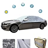 WeChip Waterproof Frost Car Cover, Windproof Half Thick Car Cover,Protection for Windshield, Side/Rear Window, Mirror Cover Protector