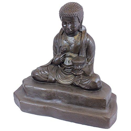 Emsco Group 92220 Lightweight Meditating Buddha Garden Statue, 24', Bronze