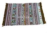iinfinize – Indischer Kelim-Teppich, Wolle, Jute, Kelim-Teppich, handgewebt, Vintage-Stil, Kelim-Teppich, dekorativer Kelim-Läufer, wendbarer Überwurf, traditionelle Bodenmatte - 2