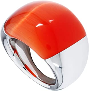 Calvin Klein Womens Polished Stainless Steel Jewelry Ellipse Ring Collection