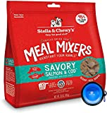 Stella & Chewy's Freeze Dried Dog Food,Snacks Super Meal Mixers 18-Ounce Bag, Bundle Pack with Hotspot Pets Food Bowl (Savory Salmon N Cod)