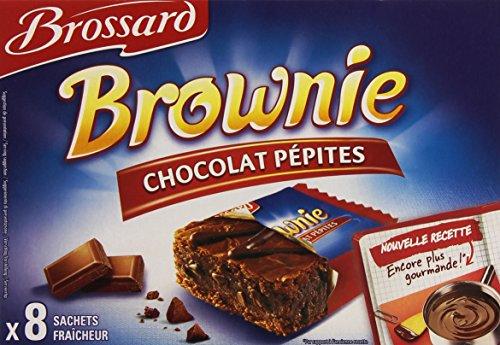Brossard Brownie pocket choco pépites - Les 8 sachets, 240g