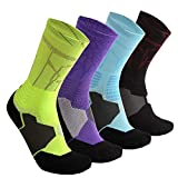 Elite Basketball Socks, Cushioned Dri-Fit Athletic Crew Socks - Sports Socks For Men