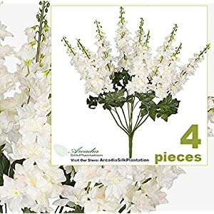 Sejahtera Group Four 26″ Height Delphinium Artificial Flower Bushes Wedding BW