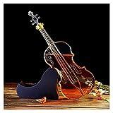 JIUYUE Violin escocés Whisky Decanter, baúl de Caoba -multifunción 1000ml Botella de Vino Craft Botella de Vino Violin Forma Hueca Licorera (Color : Transparent, Size : 45 * 14 * 16cm)