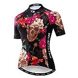 Maillot de ciclismo para mujer Bike Jersey 2020 MTB bicicleta camiseta Team Racing Tops - negro - Medium