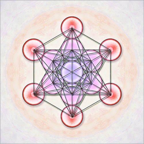 Posterlounge Cuadro de metacrilato 30 x 30 cm: Metatron's Cube de Dirk Czarnota