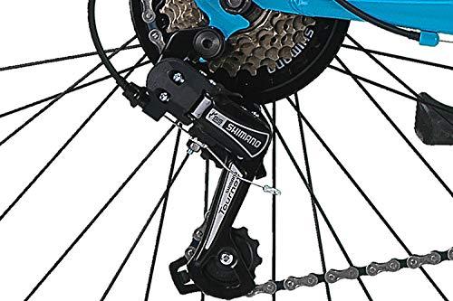 26 Zoll Fahrrad 21-Gang Shimano Schaltung mit Beleuchtung nach STVO Türkis Doppelrahmen - 3
