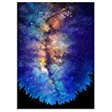 Lxmsja Diamond Painting Kits for Adult Square Full Drill DIY 5D Diamond Rhinestone Embroidery for Home Wall Decor Night Sky 11.8X15.7inch
