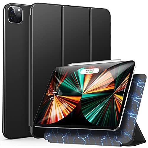 ZtotopCases für iPad Pro 11 2021 Hülle, Trifold Stand Schutzhülle Case Cover mit Auto Aufwachen/Schlaf, Ultra Dünn Smart Magnetische Abdeckung für iPad Pro 11 Zoll 2021 3.Generation - Schwarz