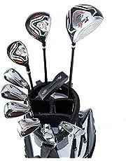 WORLD GOLF(ワールドゴルフ) ワールドイーグル WE-F-F-01α メンズクラブセット【右用-R】+【ホワイト】WE-F-F-01α スタンドバッグ     フレックス:R