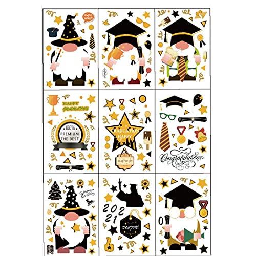 NIDONE 2021 graduación Etiqueta de la Pared de la Ventana ceñido del Ornamento del Vestido de Bachillerato del Diploma del Casquillo School Logo de la Etiqueta para el Coche del Partido de Oficina