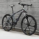 Bicicleta Montaña 26' Hombre, 21-30-Velocidad All-Terrain Bike Mountain Bike De Acero De Alto Carbono con Tenedor De Suspensión, Frenos De Disco,B,27 Speed