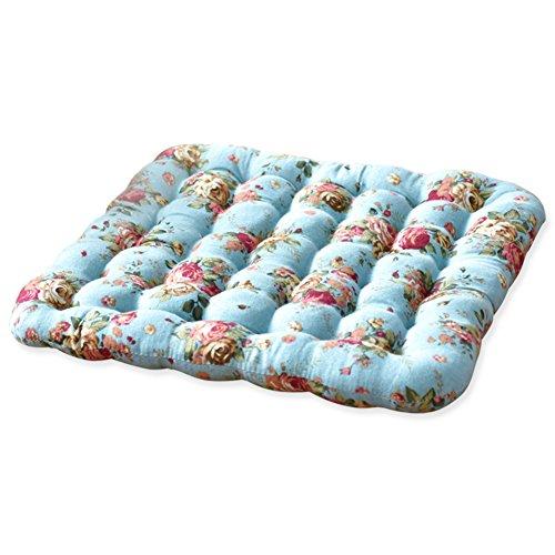 JRMU Carré Coton Coussins de Chaise, à Manger Galette de Chaise Lavable Bien remplie Coussin d'assise pour Tatami Office 38x38cm (15x15in)-B