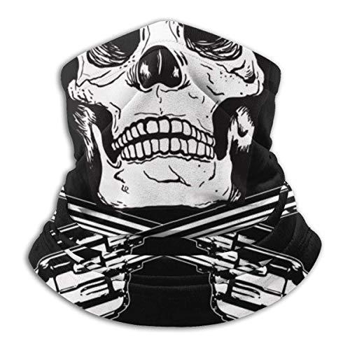 Sea Skull Guns of Pirate Flag Neck Gaiter Warmer Windproof Face Shield Scarf Magic Balaclava Sports de Plein air