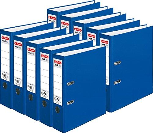 Herlitz Ordner maX.file protect A4, 8 cm breit (10er Pack   blau)