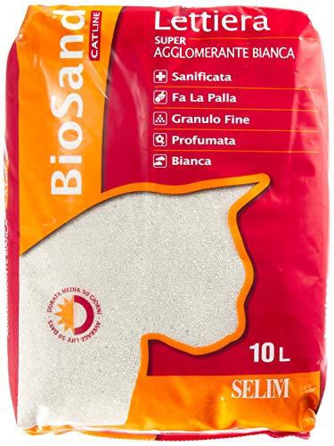 Biosand Lettiera per gatti - Super Agglomerante Bianca Profumata - 10 Litri