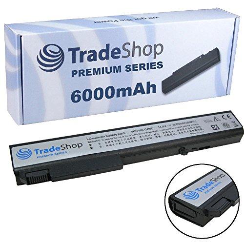 6000mAh Trade-Shop Premium Series Li-Ion Akku 14,4V/14,8V für HP Compaq Elitebook 8530, 8530p, 8530w, 8530w, 8540, 8540w (Original Akkuform, kein Überstehen, kein Schrägstellen)