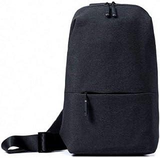 Xiaomi Sling Chest Bag Waterproof Sling Bag Urban Leisure Shoulder Bag Sport Backpack Unisex Rucksack (Dark Grey)