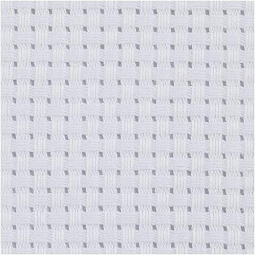 Aida Stoff, Größe 50x50 cm, weiß, 1 Stück