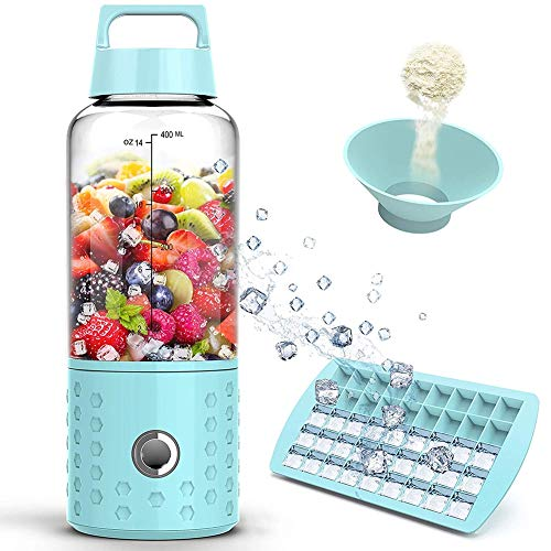 BABI Draagbare Blender Oplaadbare Persoonlijke Blender Fruit Blender voor Smoothies, IJs, Smoothies, Bevroren Fruit en Groente Dranken