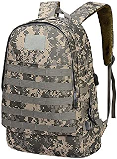 Unisex Outdoor Sports Camouflage Waterproof Backpack with USB Charging Port-Army Green