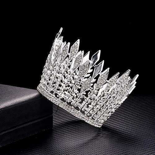 Nieuwe bruidskroon prinses verjaardag exquise tiara zilver mooie kleine kroon cake kroon